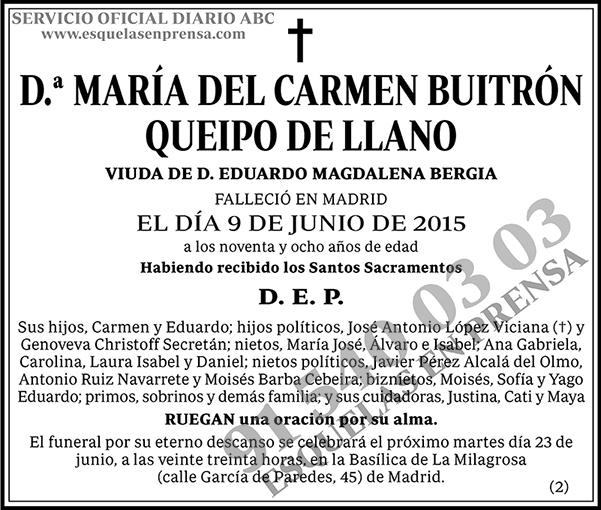 María del Carmen Buitrón Queipo de Llano